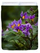 African Violets Duvet Cover