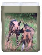 African Wild Dogs Duvet Cover
