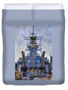 Aft Turret 3 Uss Iowa Battleship Photoart 02 Duvet Cover