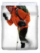 After An Afternoon Of Ice Climbing, Two Duvet Cover