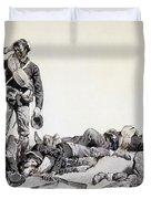 After The Battle Duvet Cover by Frederic Remington