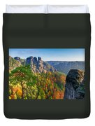 After The Sunrise On The Bastei Duvet Cover