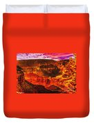 Afterglow Grand Canyon National Park Duvet Cover