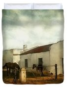 Afternoon At Lone Tree Ranch Duvet Cover