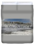 Afternoon At Mud Volcano Area - Yellowstone National Park Duvet Cover
