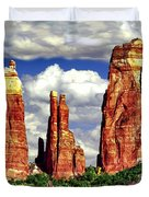 Afternoon Cathedral Rocks Saddle View Red Rock State Park Sedona Arizona Duvet Cover