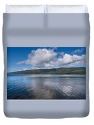 Afternoon Clouds Over Big Lagoon Duvet Cover