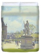 Afternoon In The Tuileries, Paris Oil On Canvas Duvet Cover