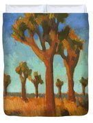 Afternoon Light At Joshua Tree Duvet Cover