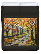 Afternoon Shadows By Prankearts Duvet Cover