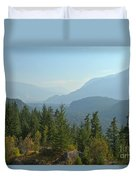 Afternoon Smoke At The Tantalus Mountains Duvet Cover