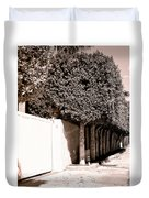 Afternoon Sun Bw Palm Springs Duvet Cover