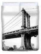 Afternoon Under The Manhattan Bridge - Brooklyn Bridge Park Duvet Cover