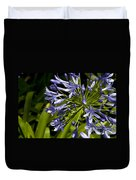 Agapanthus Flower And Bee Duvet Cover