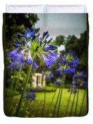 Agapanthus In The Garden Duvet Cover