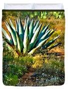 Agave In Secret Mountain Wilderness West Of Sedona Duvet Cover