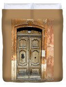 Aged Door In Provence Duvet Cover