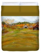 Aged With Character-farm Life Duvet Cover