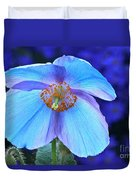 Aglow In Blue Wide View Duvet Cover
