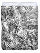 Agony In The Garden From The 'great Passion' Series Duvet Cover