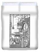 Agricola Water Pump, 1556 Duvet Cover