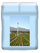 Agricultural Windmills Duvet Cover