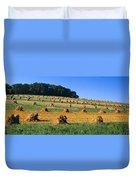 Agriculture - Contour Strips Duvet Cover