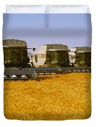 Agriculture - Six Gleaner Combines Duvet Cover
