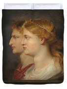 Agrippina And Germanicus Duvet Cover