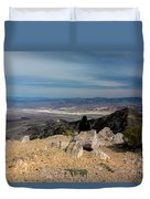 Aguereberry Point View Of Death Valley #4 Duvet Cover