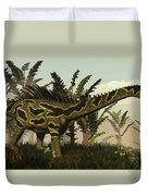Agustinia Dinosaur Walking Amongst Duvet Cover