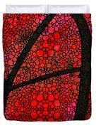 Ah - Red Stone Rock'd Art By Sharon Cummings Duvet Cover