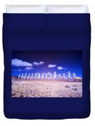 Ahu Tongariki Infrared Duvet Cover