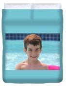 Aidan At The Pool Duvet Cover