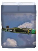 Air Apaches B-25j Duvet Cover