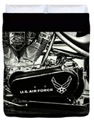 Air Force Motorcycle Duvet Cover