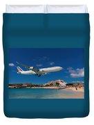 Air France At St. Maarten Duvet Cover
