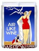 Air Like Wine Duvet Cover