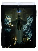 Air To Air Refueling At Night Duvet Cover