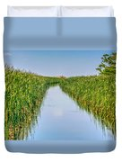 Airboat On The Mobile Delta Duvet Cover