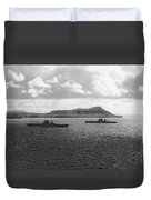 Aircraft Carriers In Hawaii Duvet Cover