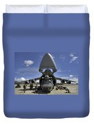 Airmen And Soldiers Load A Ch-47 Duvet Cover by Stocktrek Images