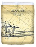 Airplane Patent Drawing From 1921-vintage Duvet Cover