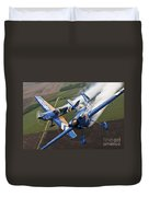 Airplanes Perform At The Sound Of Speed Duvet Cover