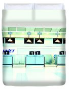 Airport Counters Duvet Cover