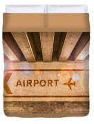 Airport Directions Duvet Cover