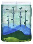 Airy Four Of Wands Duvet Cover