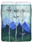 Airy Three Of Wands Duvet Cover