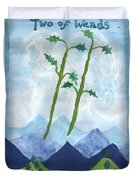Airy Two Of Wands Duvet Cover