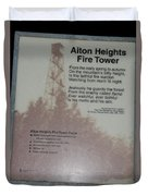 Aiton Heights Fire Tower Duvet Cover